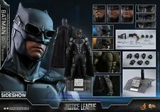 HOT TOYS DC JUSTICE LEAGUE BATMAN TACTICAL BATSUIT 1:6 FIGURE ~Sealed Brown Box~