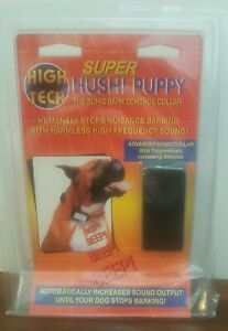 High Tech Super Hush Puppy Dog Sonic Bark Control Collar - New in Package