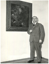 Rodolfo Siviero, historien de l'art italien Vintage silver print Tirage a