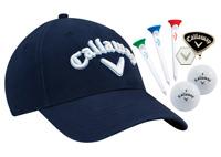 Callaway Golf Tour Hat Gift Set B/N (Cap, 2 Balls, Tees & Ball Marker)