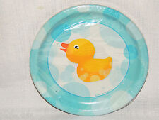 NEW  DUCKS  DUCKIES  -SPLISH SPLASH   8 PAPER  DESSERT PLATES  PARTY SUPPLIES