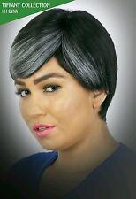 Human hair blend Byna wig (1B/27, 1B/Burg, 1B/Silver)