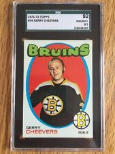 1971-72 TOPPS SGC BGS PSA 8.5  GERRY CHEEVERS 1971 GRADED NM/MINT #54