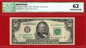 1950 D $50, Certificate ICG 63 UNCIRCULATED