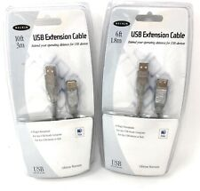 2 BELKIN MAC Series Cables - 1 USB 2.0 Extension Cable 10' & 1 USB 2.0 Cable 6'