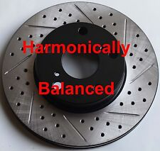 Fits X-runner Tacoma 2WD Harmonically Balanced Drilled Slotted Brake Rotors Pads