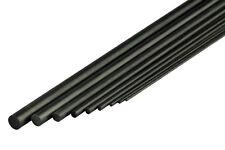 CFK-Rundstab / Rundrohr / Flachstab 1m Lang in verschiedenen Durchmessern Carbon