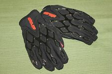 DROP MOTORCYCLE GLOVES BLACK & RED JUNIORS LARGE NEW