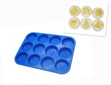 Christmas Design Wax Melt Tart, Soap Making, Bath Bomb Mold Mould Tray. S7711