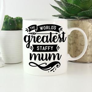 Staffordshire Bull Terrier Mum Mug: Cute gift staffy staffie lovers & owners!