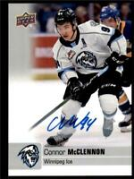 2019-20 UD CHL Autographs Parallel Auto #62 Connor McClennon - Winnipeg Ice