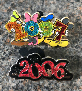 Disney - DLRP 2 Pin Set - 2006 And 2007 Logo Pins Featuring Fab 5