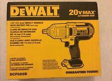 """Nuevo Dewalt DCF889B 1/2"""" 20V 20 Volt Max Llave de impacto Pin retén W Nuevo en Caja Bare Herramienta"""