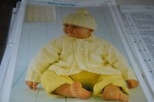 Sirdar Knitting Pattern 3020 Snuggly Baby Care DK Jacket Hat Blanket 0-2 yrs