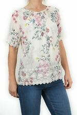 NEW Per Una Gorgeous Pink Floral Pintuck Blouse Was £29.95 SAVE £10 Now £19.95!