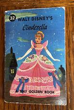 Vintage Tiny Golden Book, Walt Disney's CINDERELLA,  1950