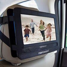 Premium Car Headrest Mount Holder Swivel Flip Style DVD iPad Player Strap Case