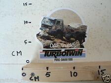 STICKER,DECAL DAF TRUCKS PARIS-DAKAR 1986 TURBO TWIN