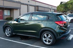 For 16-Up Honda HR-V JDM MUGEN Style Side Vents Window Visors Rain Deflectors