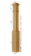 AFP-4091 Amish Made White Oak Actual Flat Panel Box Newel Post