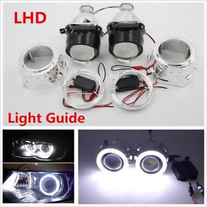 "2.5"" Halo Ring Angel Eye HID Bi-xenon Projector LHD/RHD Headlight Conversion Kit"