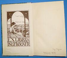 G. Keller: Romeo und Julia auf dem Dorfe (Georg Müller 1924) Schönes Ex libris!
