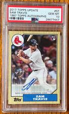 2017 Topps Update Sam Travis 1987 Autograph 87A-ST Boston Red Sox Texas Rangers