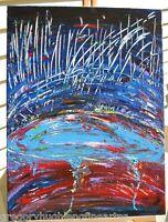 """The POND II""   ORIGINAL FINE ART  American Artist GREGORY HUGH LENG"