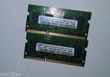 2 x Samsung 1GB 2RX16 PC3-8500S-07-00-A0 M471B2874DH1-CF8 Memory