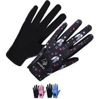 KIDS HORSE RIDING GARDENING BIKE GLOVES EQUESTRIAN WARM CYCLING MITTENS GIRL BOY