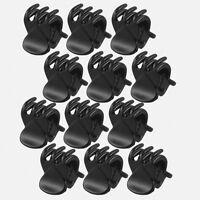 12PCS/Set Women's Girl Black Plastic Mini Hairpin 6 Claws Hair Clip Clamp JT