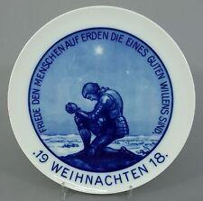 Rosenthal Weihnachtsteller von 1918 'Friede auf Erden' Entw. K. Pfeifer