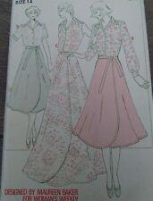 "Vintage '70s Woman's Weekly Blouse Skirt Sewing Pattern B691 Bust 36"" 91cm Uncut"
