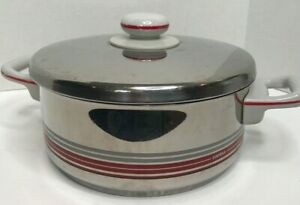 Vintage Mid Century Fissler WGermany Stainless Steel 4 QT Pot Carina Lid Handle