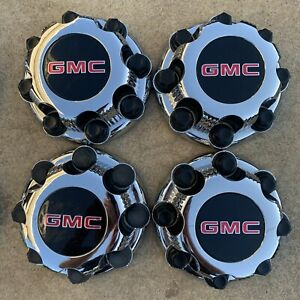 1999-10 GMC SIERRA YUKON Set Of 4 Chrome Center Cap For Alloy Wheels # 15039488
