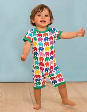 Toby Tiger Multi Elly Short Rompersuit Organic Cotton Playsuit