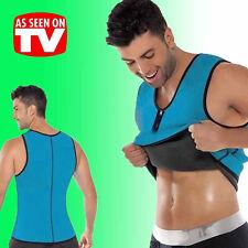 UK Mens Neoprene Belt Shaper Wrap Waist Vest Fat Burner Cami Shirt Body Sport