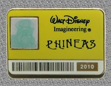 Phineas Id Badge Lenticular Pin Le 300 Haunted Mansion Wdi - 2010