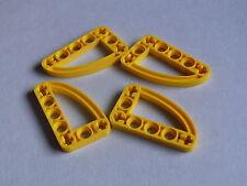Lego 4 plate tech jaunes 8419 42004 8290 8998 8271 8069/4 yellow liftarm ellipse