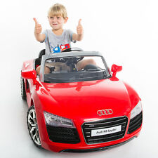 Audi R8 Spyder 12V Electric Kids Ride On Car Licensed MP3 RC Remote Control Red
