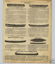 1922 PAPER AD Indian Girl Canvas Covered Canoe Cedar Duck Boat
