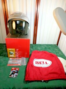 Bell Mag 8 DOT Silver Metallic Helmet w/Shield/Bag/Owners Manual/Box-Size Small