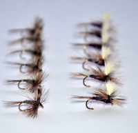 Adams Dry Fly Fishing Flies and Purple Haze Parachute Assortment Trout Fishing +