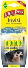 Magic Tree INVISI Vent Clip NEW CAR Air Freshener - Little Tree Freshner 4 Pack