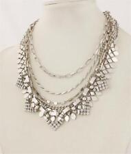 Stella & Dot Versatile Sutton Necklace Silver Tone