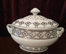 4 X FOOD SERVER PORCELAIN CONTAINER WITH SILVER WORK ELEGANT BY COSTA VERDE NEW