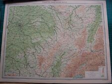 1922 LARGE ANTIQUE MAP- FRANCE, NORTH EASTERN SECTION