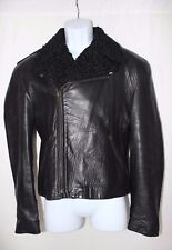 RARE John Richmond Vintage Motorcycle Jacket with Wool lapel great condition