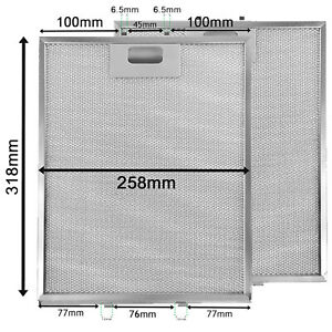 2 x Cooker Hood Mesh Filter Non Universal Vent Filters 318 x 258mm Extractor