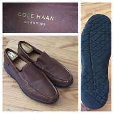 Cole Haan Grand OS Mens 10.5 M Brown Leather Moc Driving Loafers Slip-On Shoe